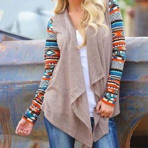 Sweaters - Khaki Longsleeve Small Cardigan